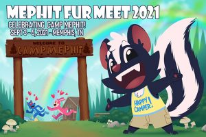 Mephit Fur Meet 2021 Postcard